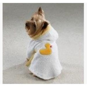 Terry Cloth Teacup / Small Breed Rubber Duck Robe